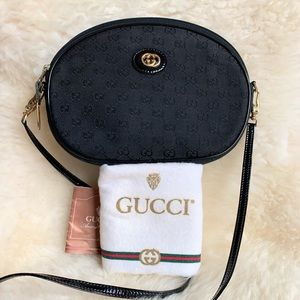 Authentic Gucci black crossbody bag